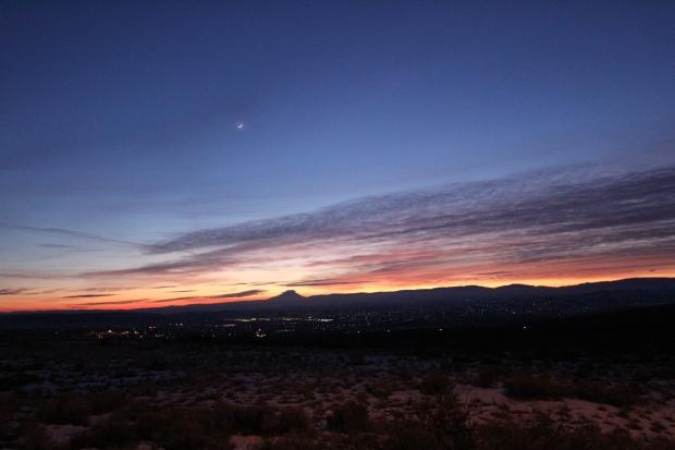 Mt. Rainier in the sunset