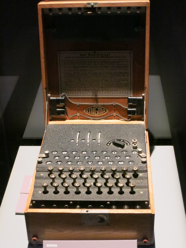 "The famous German ""Enigma"" encryption machine"