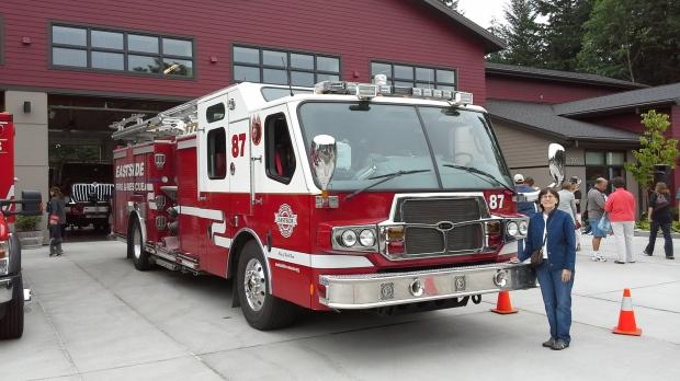 Trisha at new North Bend Fire Station
