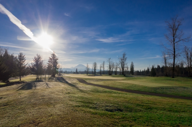 Druid's Glen, 2nd Fairway; Mt. Rainier in the Background