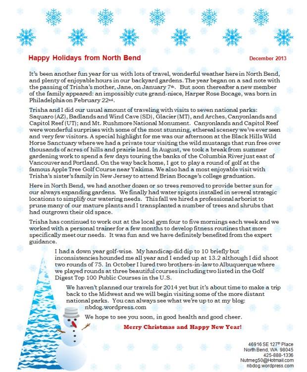 2013 Christmas Letter