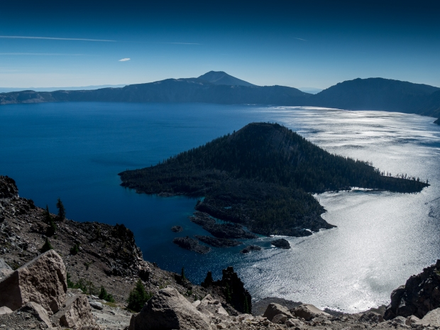 Crater Lake, Wizard Island from West Rim