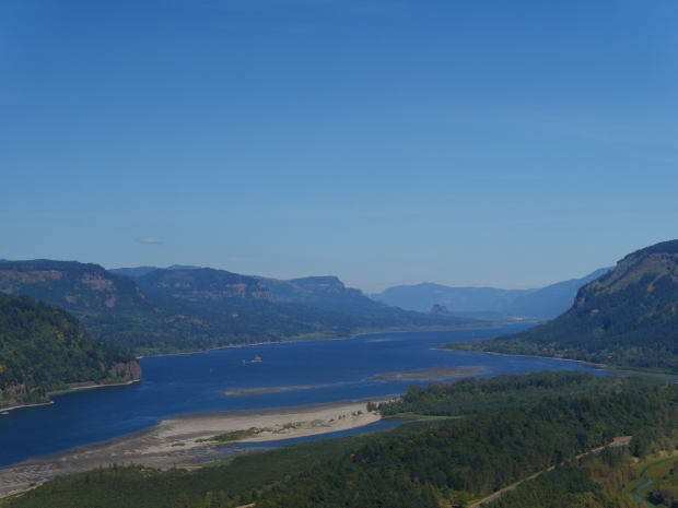 Columbia River, looking east from Crown Point