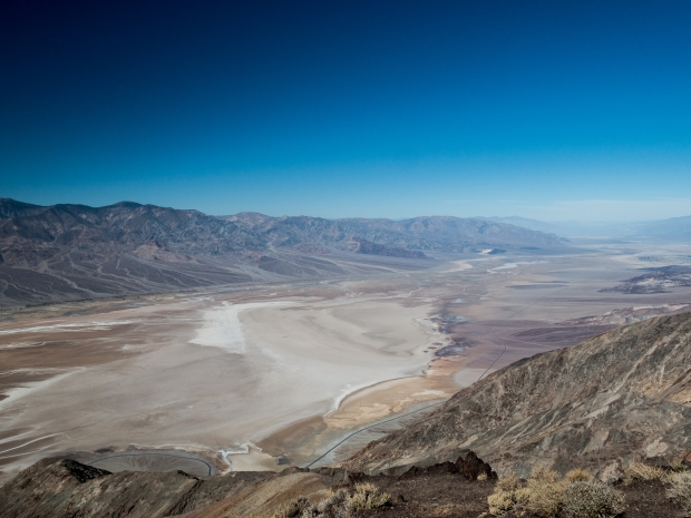Dante's View; Devil's Golf Course on valley floor, Panamint Mtns.
