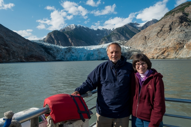 In front of Sawyer Glacier