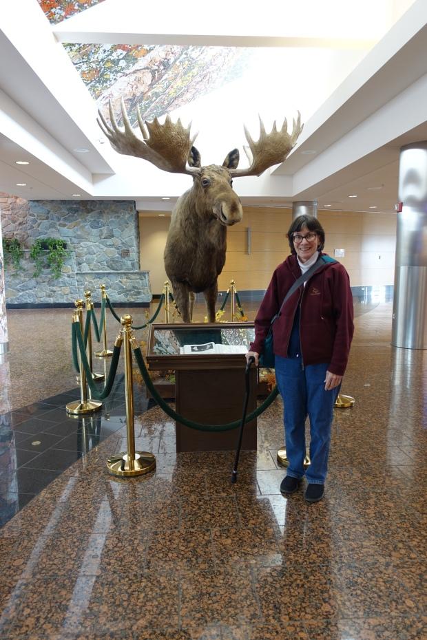 Trisha at the Anchorage airport