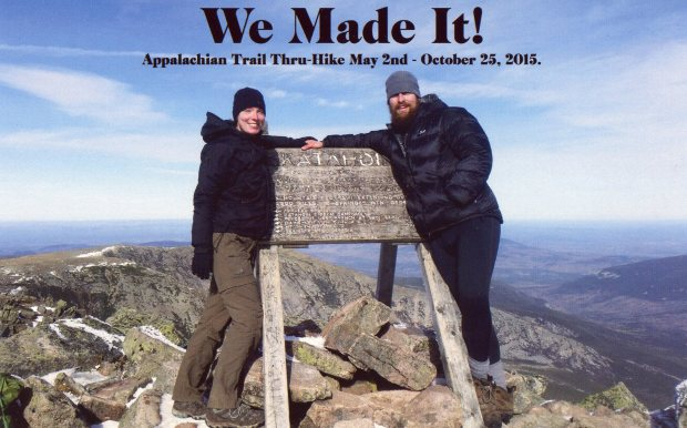 Christina and Paul on Mt. Katahdin